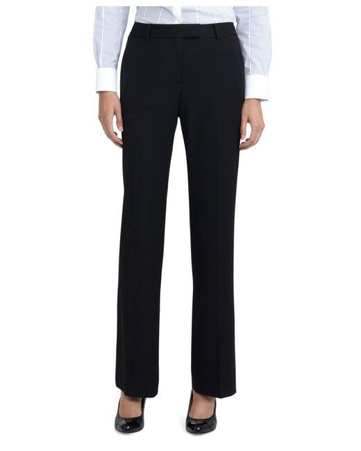 Brooks Brothers | Black Petite Plain-front Caroline Fit Fluid Stretch Dress Trousers | Lyst