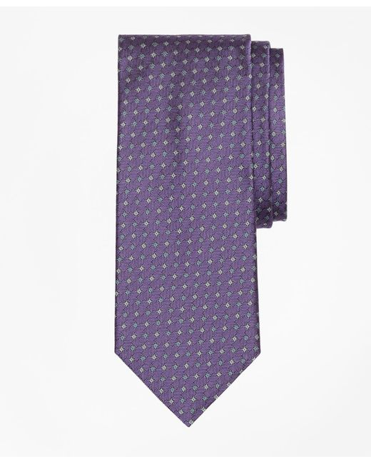 Brooks Brothers - Purple Parquet Tie for Men - Lyst