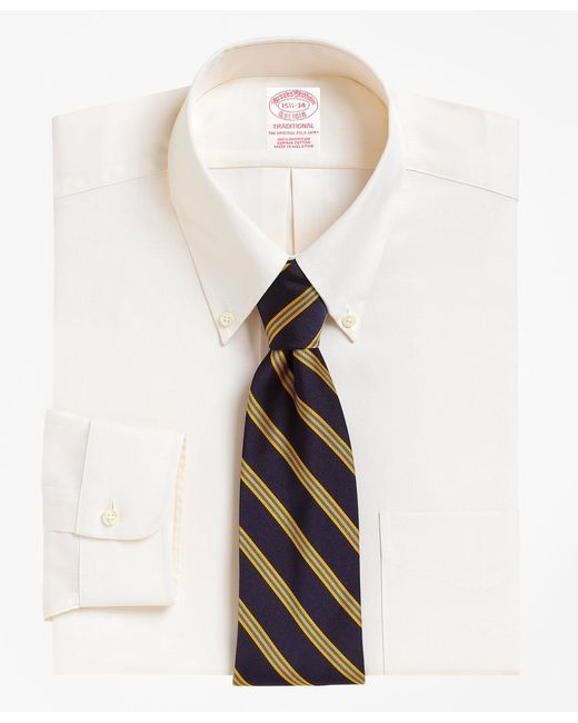 Brooks Brothers | Natural Madison Fit Button-down Collar Dress Shirt for Men | Lyst