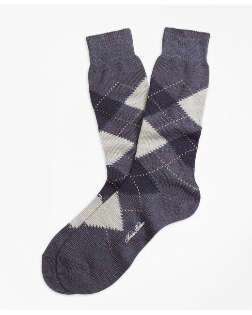 Brooks Brothers | Gray Argyle Crew Socks for Men | Lyst
