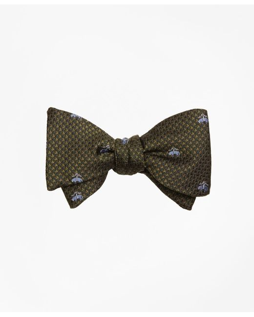 Brooks Brothers - Green Golden Fleece® Houndscheck Bow Tie for Men - Lyst