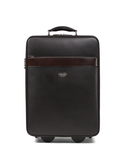 Brooks Brothers - Brown Small Leather Trolley - Lyst