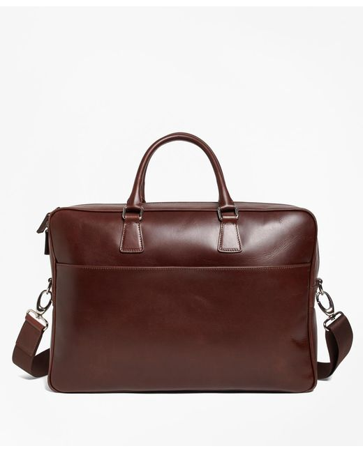 Brooks Brothers | Brown Soft Leather Briefcase for Men | Lyst