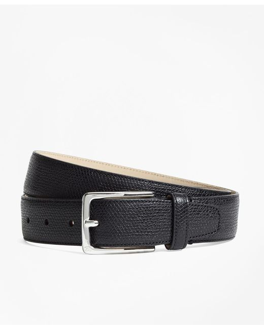 Brooks Brothers - Black Textured Leather Belt for Men - Lyst