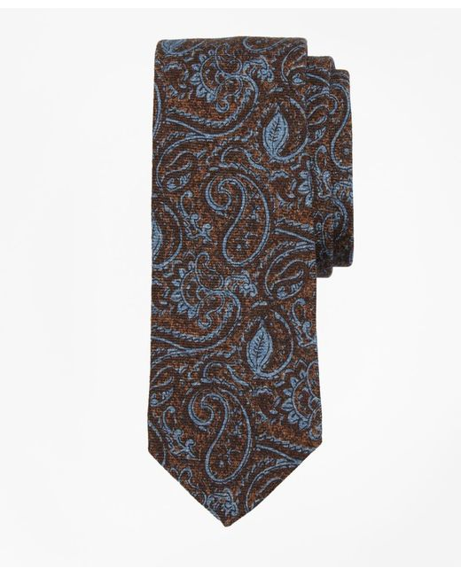Brooks Brothers - Brown Paisley Print Tie for Men - Lyst