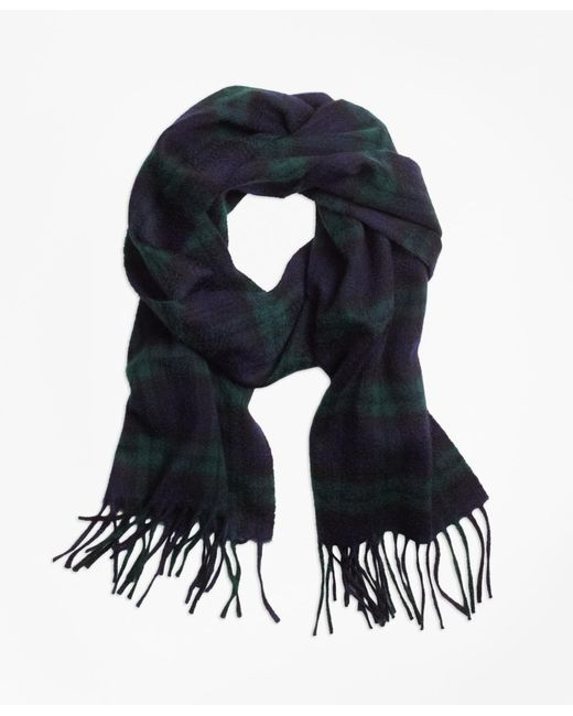 Brooks Brothers | Natural Cashmere Black Watch Scarf for Men | Lyst