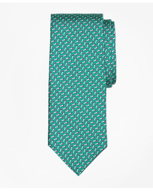 Brooks Brothers - Blue Windboard Print Tie for Men - Lyst