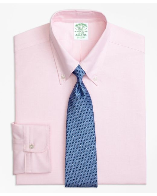 Brooks Brothers - Pink Original Polo® Button-down Oxford Milano Slim-fit Dress Shirt for Men - Lyst