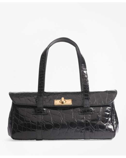 Brooks Brothers | Black Alligator Mini Satchel | Lyst