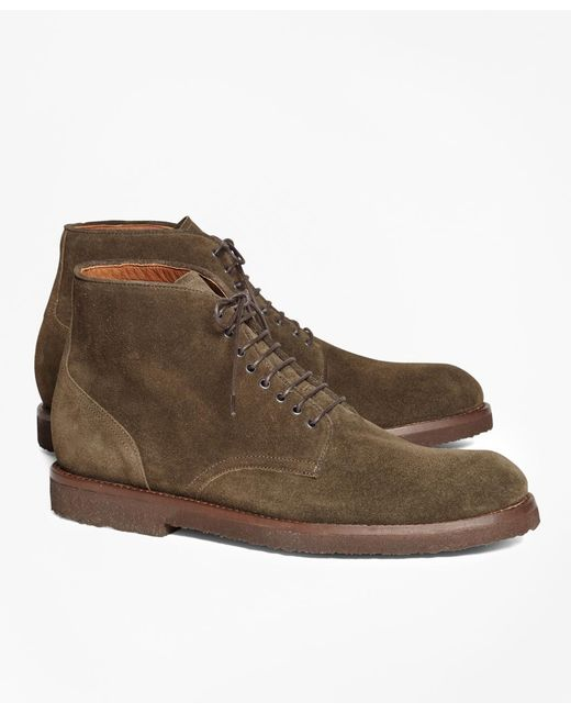 Brooks Brothers - Green Suede Boots for Men - Lyst