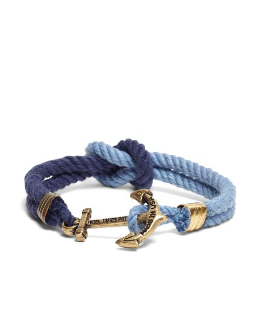 Brooks Brothers - Kiel James Patrick Navy And Blue Triton Bracelet for Men - Lyst