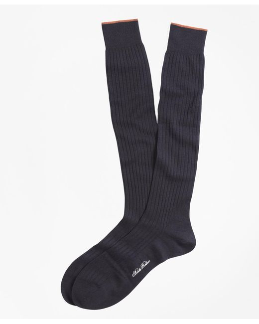 Brooks Brothers - Blue Merino Wool Golden Fleece® Sized Over-the-calf Socks for Men - Lyst