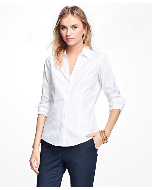Brooks Brothers - White Non-iron Fitted French Cuff Dress Shirt - Lyst