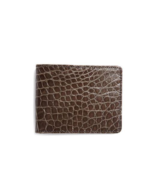 Brooks Brothers - Gray Slim Alligator Wallet for Men - Lyst