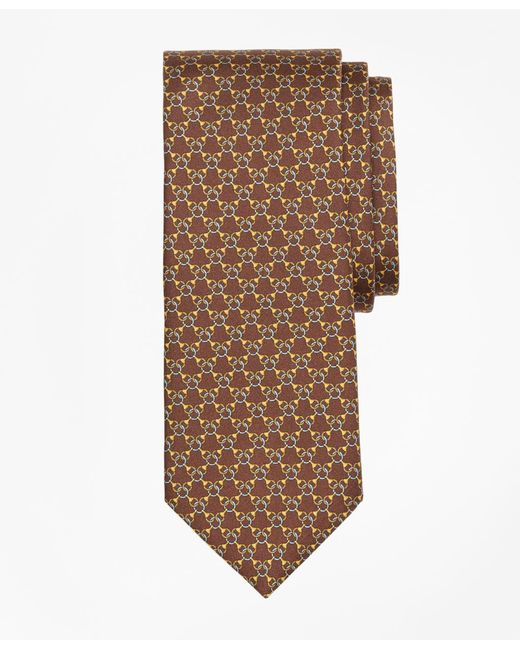 Brooks Brothers - Brown Chain Link Print Tie for Men - Lyst