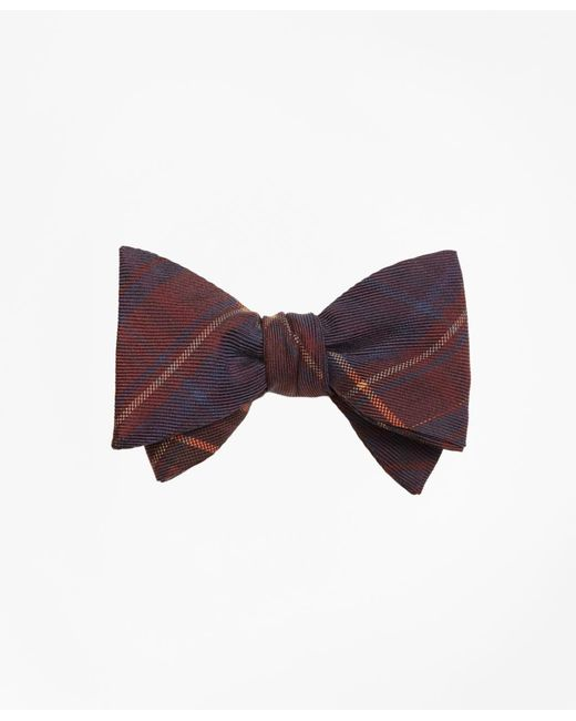 Brooks Brothers - Multicolor Ancient Madder Plaid Print Bow Tie for Men - Lyst