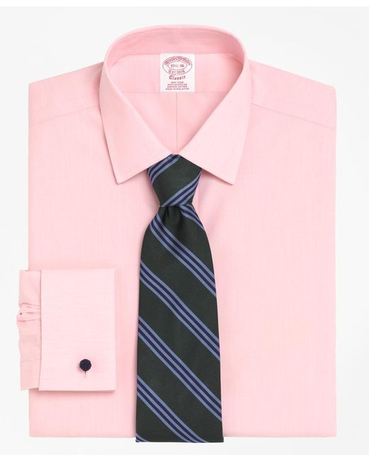 Brooks Brothers | Pink Non-iron Traditional Fit Spread Collar French Cuff Dress Shirt for Men | Lyst