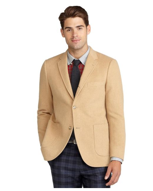 Brooks Brothers - Brown Cambridge Camel Hair Patch Pocket Jacket for Men - Lyst