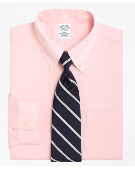 Brooks Brothers | Pink Non-iron Regent Fit Button-down Collar Dress Shirt for Men | Lyst