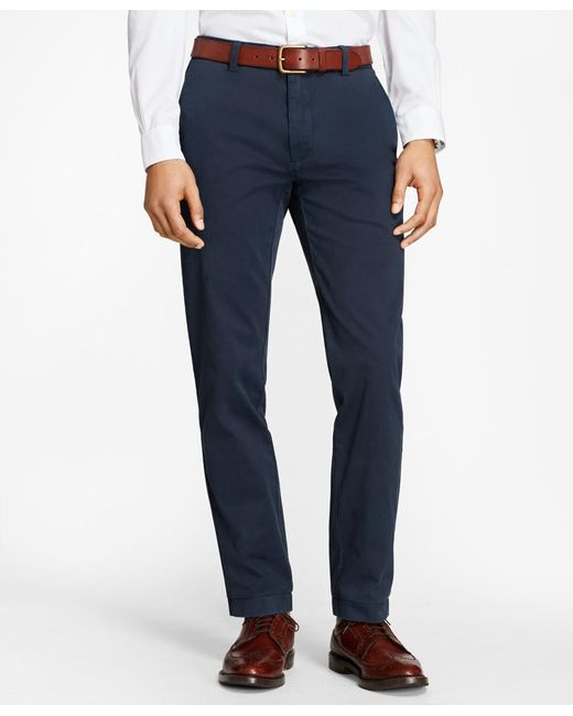 Brooks Brothers - Blue Garment-dyed Chinos for Men - Lyst