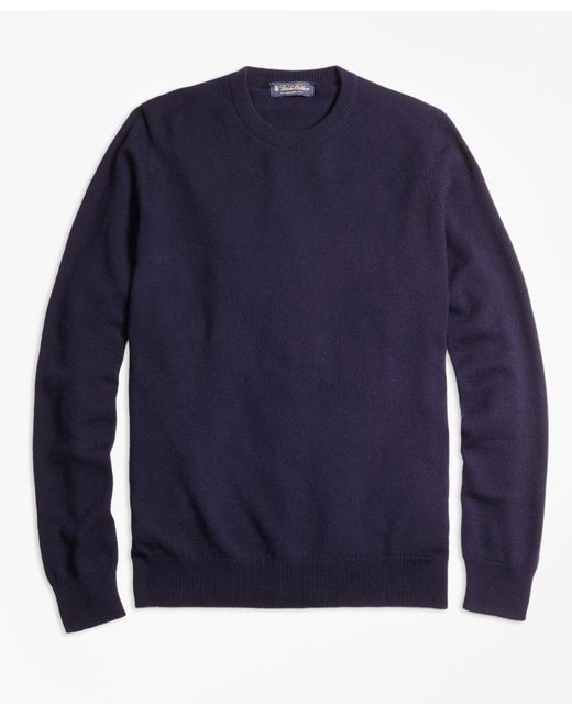 Brooks Brothers | Blue Cashmere Crewneck Sweater-basic Colors for Men | Lyst