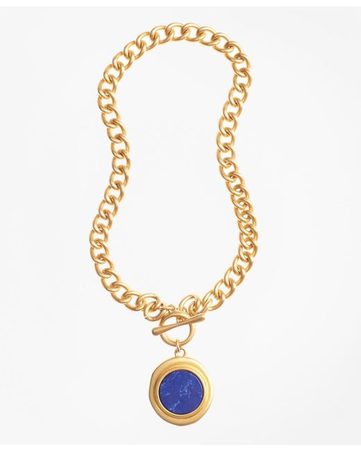 Brooks Brothers | Metallic Gold-plated Toggle Pendant Necklace | Lyst