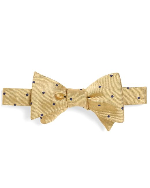 Brooks Brothers | Yellow Dot Bow Tie for Men | Lyst