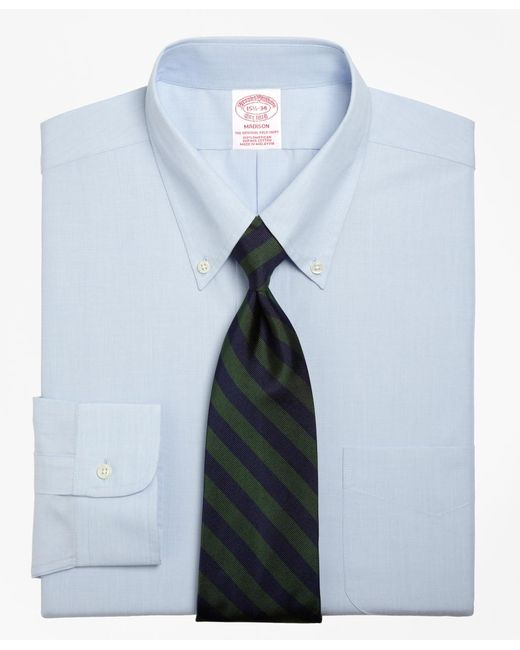 Brooks Brothers | Blue Madison Fit Button-down Collar Dress Shirt for Men | Lyst