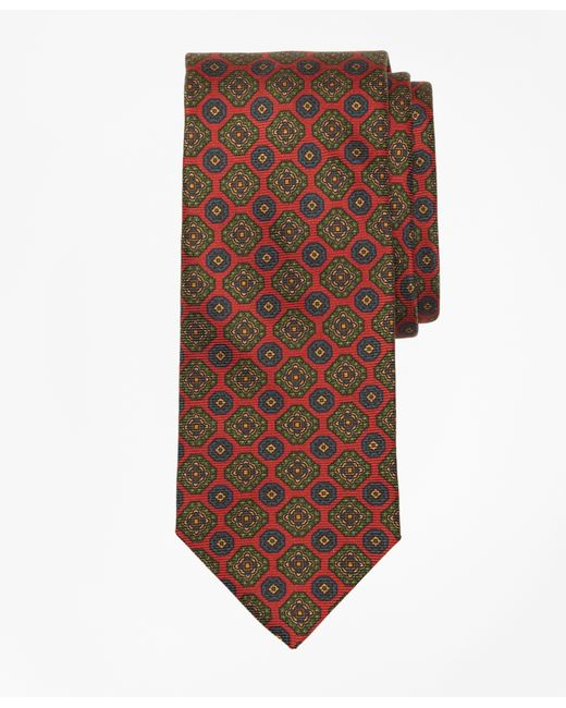 Brooks Brothers | Red Ancient Madder Medallion Tie for Men | Lyst