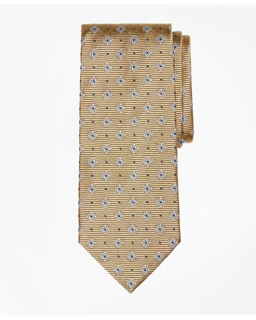 Brooks Brothers   Metallic Framed Diamond Medallion Tie for Men   Lyst