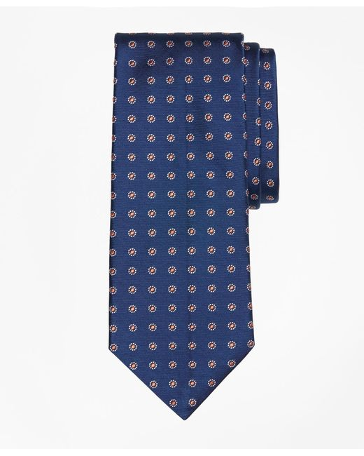 Brooks Brothers | Blue Framed Polka Dot Tie for Men | Lyst