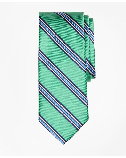Brooks Brothers | Green Double-framed Stripe Tie for Men | Lyst