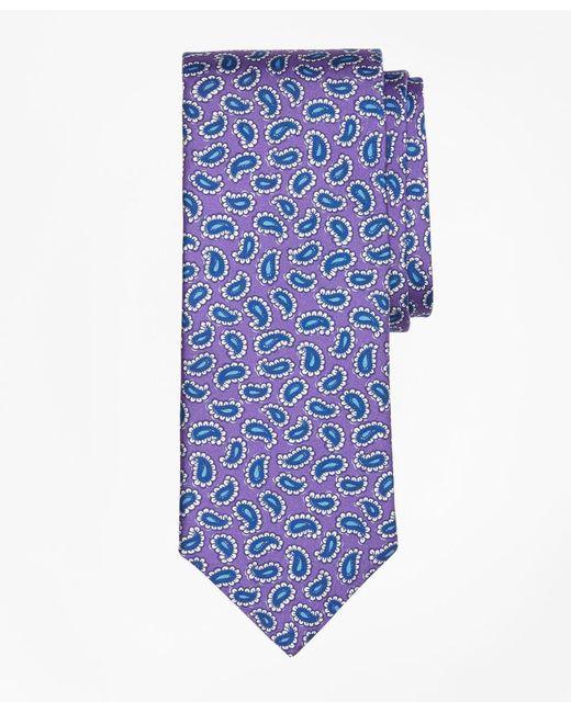 Brooks Brothers | Purple Tossed Pine Print Tie for Men | Lyst