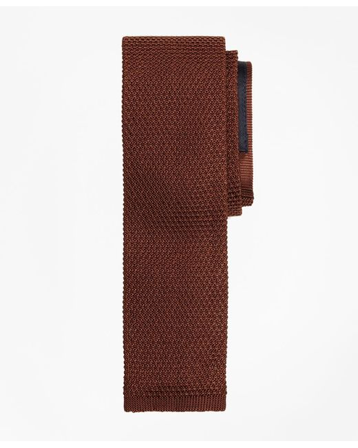 Brooks Brothers   Brown Knit Tie for Men   Lyst