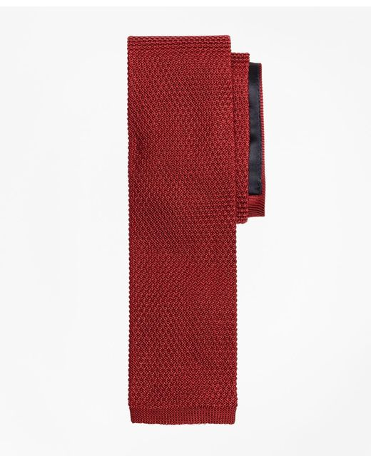 Brooks Brothers   Red Knit Tie for Men   Lyst