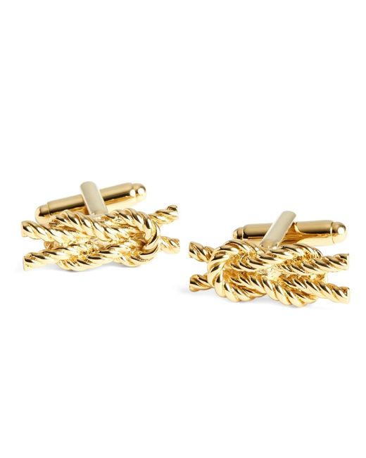 Brooks Brothers | Metallic Rope Knot Cuff Links for Men | Lyst