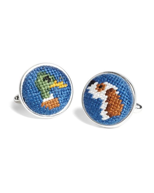 Brooks Brothers | Blue Needlepoint Cufflinks for Men | Lyst