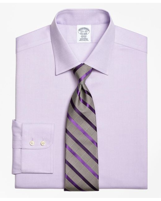Brooks Brothers | Purple Non-iron Regent Fit Royal Oxford Dress Shirt for Men | Lyst