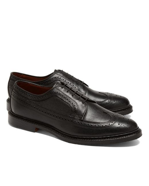 Brooks Brothers | Black Perforated Captoes for Men | Lyst