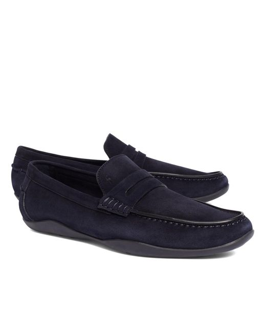 Brooks Brothers | Blue Harrys Of London® Basel Kudu Loafers for Men | Lyst
