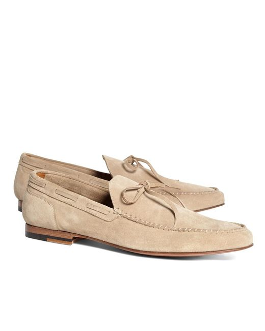 Brooks Brothers | Natural Whipstitch Moccasins for Men | Lyst