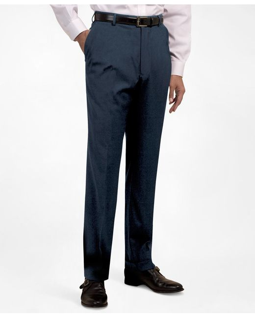 Brooks Brothers | Blue Plain-front Suiting Essential Trousers for Men | Lyst