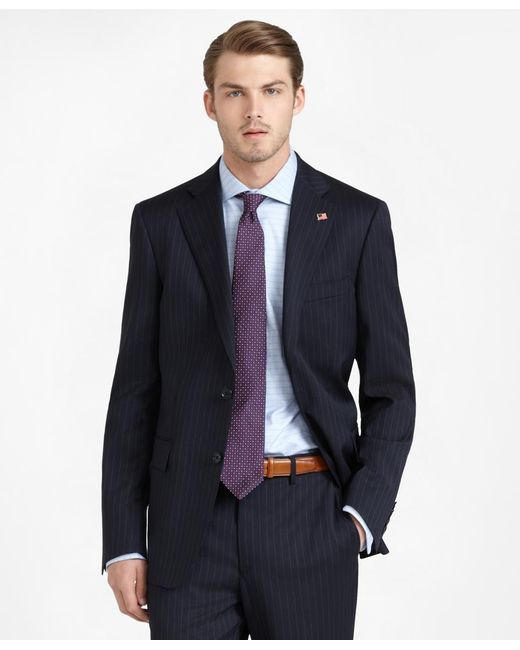 Brooks Brothers | Blue Regent Fit Stripe 1818 Suit for Men | Lyst