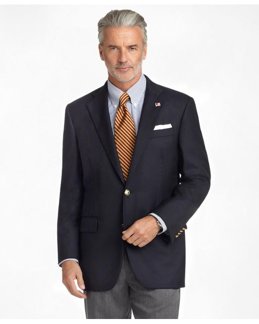 Brooks Brothers | Blue Madison Fit Golden Fleece® Saxxon Wool Reserve Blazer for Men | Lyst