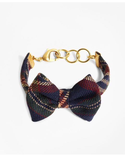 Brooks Brothers | Blue Kiel James Patrick Signature Tartan Bow Tie Bracelet | Lyst
