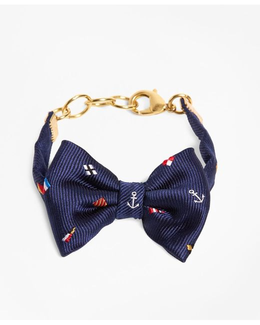 Brooks Brothers | Blue Kiel James Patrick Navy Nantucket Bow Bracelet | Lyst