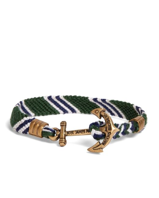 Brooks Brothers | Kiel James Patrick Green Hitch Knot Braided Bracelet for Men | Lyst
