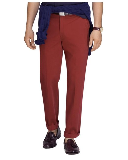 Brooks Brothers | Red Clark Fit Vintage Washed Chinos for Men | Lyst