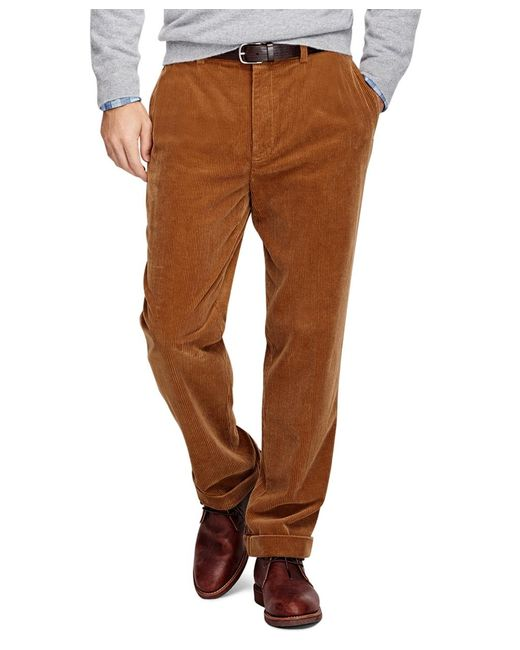 Brooks Brothers | Brown Hudson Fit Wide Wale Corduroys for Men | Lyst