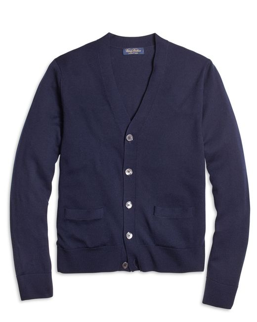 Brooks Brothers | Blue Saxxon Wool Cardigan for Men | Lyst